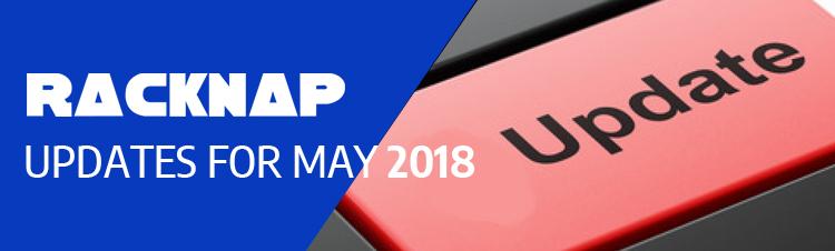 {Update} What's new in RackNap in May 2018?